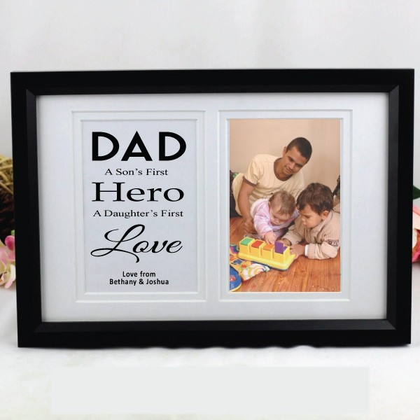 Image of Personalised Dad Typography Frame{empty_space}