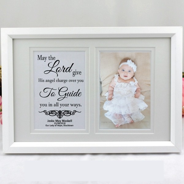 Image of Christening Typography Frame- Personalised{empty_space}