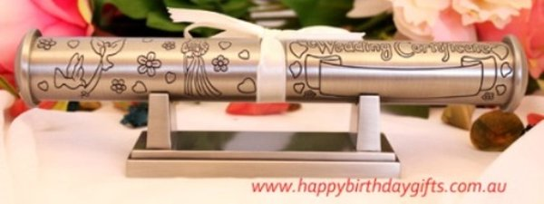 Image of Pewter Wedding Certificate Holder{empty_space}