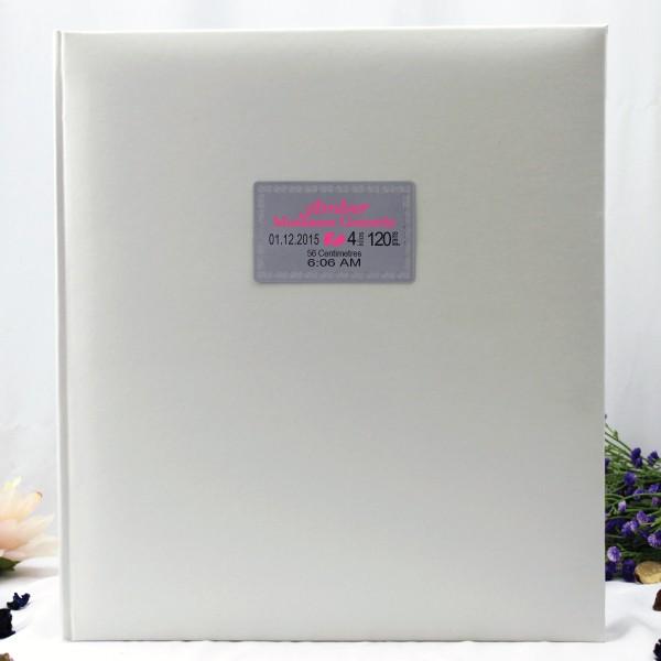 Image of Baby Birth Details 500 Photo Album - White{empty_space}