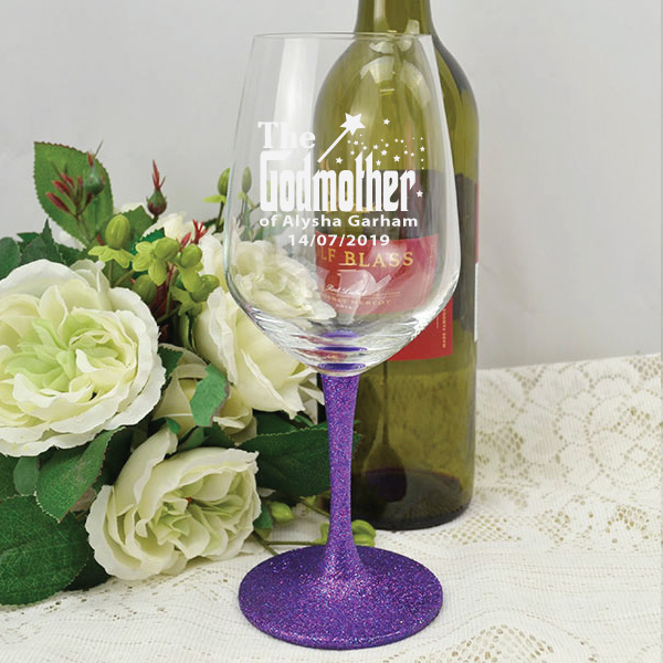 Image of Godmother Engraved Red Wine Glass - Personalised{empty_space}