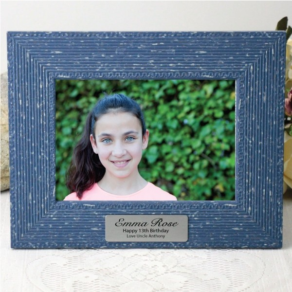 Image of 13th Birthday Bohemian Blue Frame 5x7