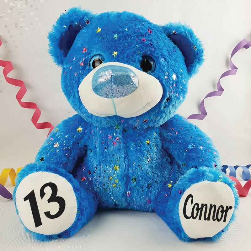 Image of 13th Birthday 40cm Hollywood Bear - Blue